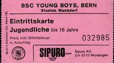 TICKET 1985 torneo Botafogo Rio de Janeiro, Servette Ginevra, Young Boys Berna, BMG