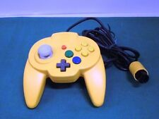 Nintendo 64 N64 -HORI PAD MINI YELLOW Controller- JAPAN Clean & Work fully 28733