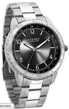 AZZARO CHROME MEN'S WATCH STAINLESS STEEL BACK NEW