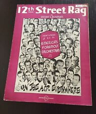 1919 Classic Piano Solo Sheet Music 12th STREET RAG