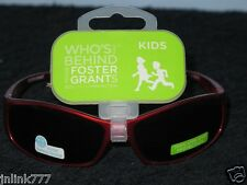 465:New $6.99 Foster Grant Sunglasses for Kids-(Boys & Girls)Red