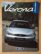 FORD MONDEO VERONA 1998 UK Mkt sales brochure