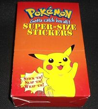 SUPER-SIZE Sticker Box 36 Sealed Packs Pokemon ARTBOX 1999