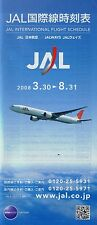 Japan Airlines Timetable  March 30, 2008 =