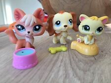 Autenthic Littlest Petshop 1812 Renard / Fox &Dog Épagneul 298 + Baby Cat