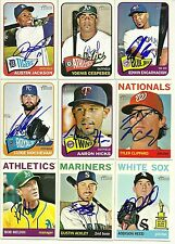 2014 Topps Heritage AARON HICKS Signed Card auto TWINS YANKEES