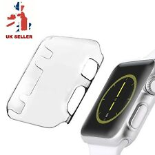 2PACK Cystal Clear Slim Thin Hard Snap On Case Cover For Apple Watch iWatch 38MM