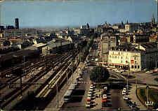 LIMOGES France Frankreich Carte Postale Place La Gare Bahnhof AK ~1960 ungelauf.