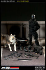 SIDESHOW G.I. JOE SNAKE EYES AND TIMBER 1:6 FIGURE SET ~BRAND NEW SEALED~