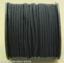 10ya 3mm black Suede Leather String Jewelry Making Thread Cords hot