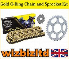 Gold O-Ring Chain & Sprocket Kit Suzuki GSXR1000 K1,K2,K3 2001-06 JTKSGSXR1D