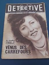 Détective 1949 131 AUREILHAN COUTERNE THéZAN LèS BéZIERS VETRIOLO fakir