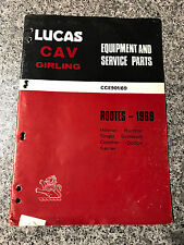 Rootes (1969) CAV Girling Lucas Equipment Service Parts Catalogue CCE901/69