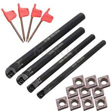 7/8/10/12mm SCLCR06 Turning Tools Lathe Boring Bar + T8 Wrenchs + 10 Insert Set
