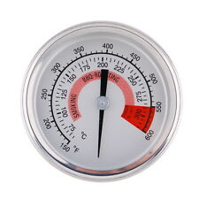 Stainless Steel Barbecue BBQ Pit Smoker Grill Thermometer Gauge 300°C Food H5