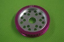 CNC Metal 38T Pulley Gear for SAKURA D3 CS S 1/10 Drift Racing Car Purple