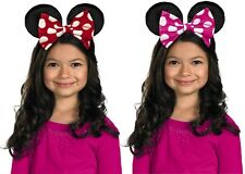 Minnie Mouse Ear Headband Red Pink Fancy Dress Halloween Child Costume Accessory