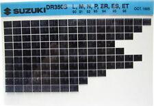 Suzuki DR350S 1990 1991 1992 1993 1994 1995 1996 Parts Microfiche s271