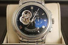 Zenith El Primero Open Men's Wrist Watch Metal Bracelet Open Face and Back