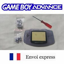Coque GAME BOY ADVANCE violet transparent NEUF NEW + tournevis - shell case GBA