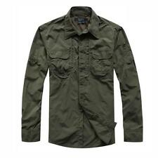 Men Casual Military Outdoor Tactical Sport Short Long Sleeves Fast Dry Shirts XW