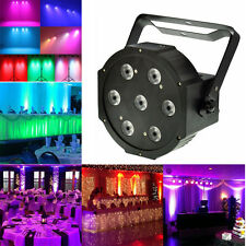 7x15 Watt 5in1 RGBW+Amber DMX512 Led Par Can Light DJ Stage Wedding Uplighting