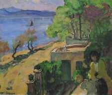 View Of The Sea From The Balcony 1919 A4 Print