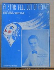 A Star Fell Out Of Heaven - 1936 sheet music - Fred Waring photo on cover
