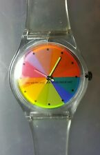 Metropolitan Museum of Art Watch with a Color Wheel Dial and a Clear Band NWOT