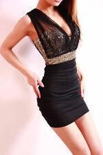 Black Women Sexy Mini Short Party Ball Cocktail Evening Dress Bodycon Club Wear7