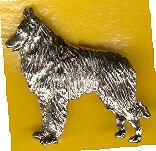 Belgian Shepherd Sheepdog Nickel Silver Brooch Pin Jewelry
