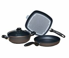 Swiss Diamond 4pc Fry Pan, Casserole & Grill Pan Cookware Set