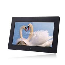 "10""HD TFT-LCD Digital Photo Frame Alarm Clock Movie Player Remote Desktop T3IW"