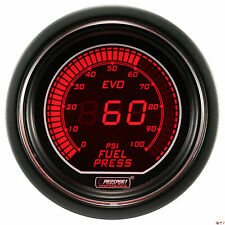 PROSPORT 52mm EVO Series Digital Red / Blue Led Fuel Pressure Gauge PSI