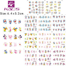 11 Sheets/Lot Cute Cartoon Nail Stickers Water Transfer Decals #BLE1687-1697