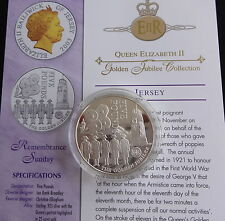 2003 SILVER & GOLD PLATED PROOF JERSEY £5 COIN + COA THE QUEENS GOLDEN JUBILEE