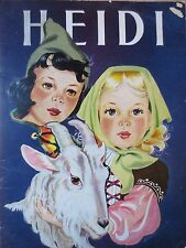 vintage 1945 HEIDI by johanna spyri childrens story book