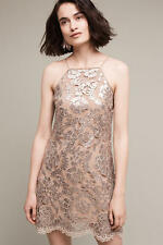 NWT Anthropologie Poisat Sequined Halter Dress by Lucy Paris Sz 4 Small $158