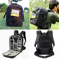 Black Lowepro Pro Runner 350AW DSLR camera Nylon shoulders Backpack Rain cover