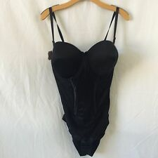 Maidenform Firm Control Easy Up Strapless Shaper 1256 Black 36DD MSRP NWOT a4