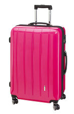Trolley Hartschale 70 cm Koffer Trolly 4 Rad m TSA Schloß London  pink