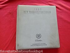 1997 Cadillac New Product Portfolio Guide Original Dealer Book Sales Binder