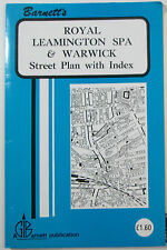 c 1990 vintage Barnett's Street Plan of Royal Leamington Spa and Warwick + index