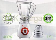 400w Electric Multi Food Blender With Grinder Smoothie Processor Liquid RED