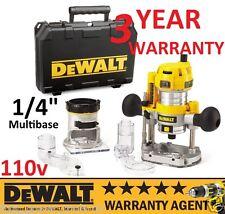 """DeWALT D26204K 110V 1/4"""" 55MM Multi Base Variable Speed Plunge Router Kit NEW"""