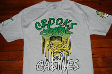 NEW Crooks and Castles Snake Face Green Yellow Drip Graphic T-shirt (Medium)