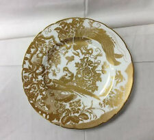 "ROYAL CROWN DERBY ""GOLD AVES"" DINNER PLATE 10 1/2"" BONE CHINA ENGLAND NEW"