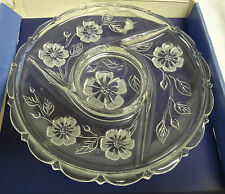 BEAUTIFUL DECOR LINE BY GIORGI GLASS SERVING PLATTER - HORS DOEUVRE DISH