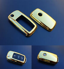 GOLD VW Car Remote Flip Key Cover Case Skin Shell Cap Fob Protection ABS 2010-