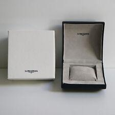 scatola box astuccio  LONGINES in pelle blu  completa